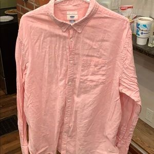 Old Navy 55/45 Linen/Cotton XXL Button Down